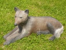 3D-Ziel Wolf liegend