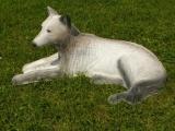 3D-Ziel Weißer Wolf liegend